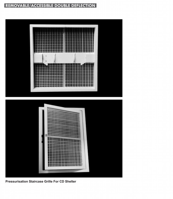 Double Deflection Grille With Damper : Double deflection rglazen
